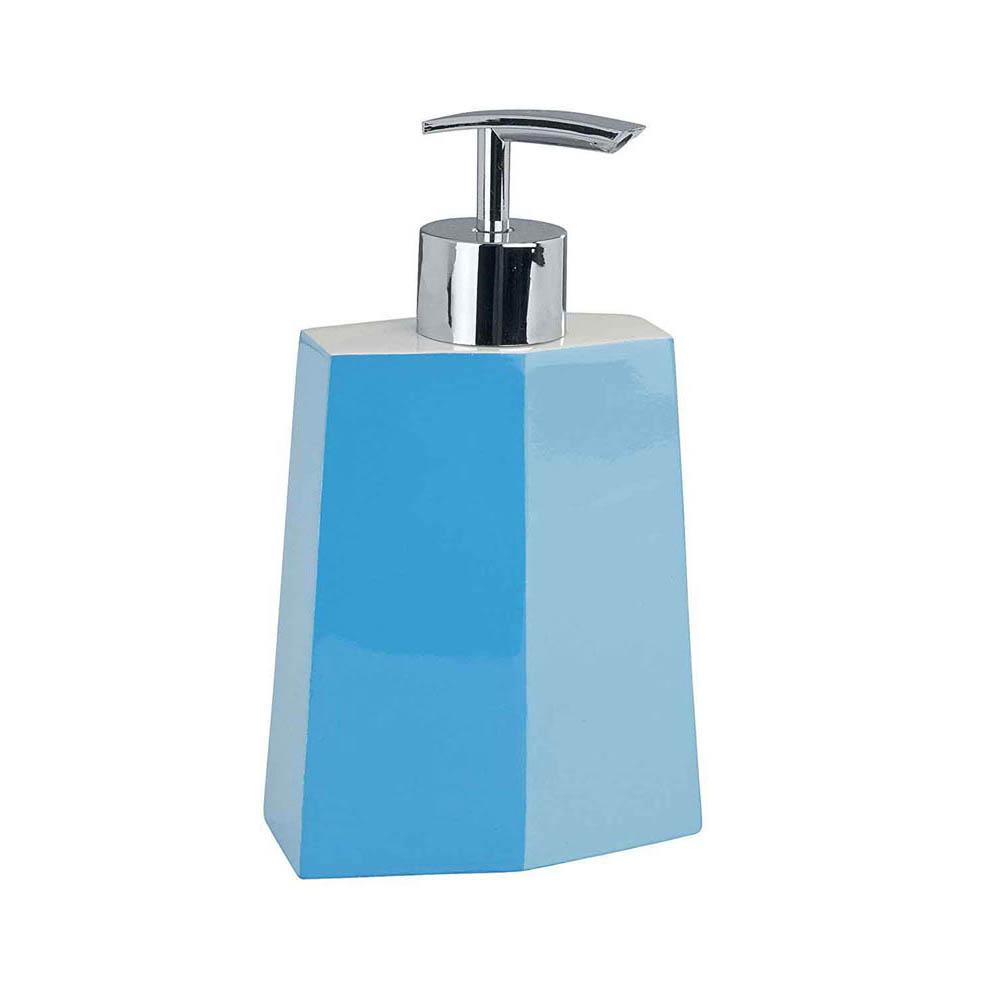 جا مایع دستشویی پلاستیک Bicolor Blue